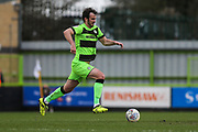 Forest Green Rovers Gavin Gunning(16) on the ball during the EFL Sky Bet League 2 match between Forest Green Rovers and Carlisle United at the New Lawn, Forest Green, United Kingdom on 16 March 2019.