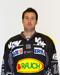 29.08.2012, Messestadion, Dornbirn, AUT, EBEL, Spielerportraits, Dornbirner Eishockey Club, im Bild Danny Bois, (Dornbirner Eishockey Club, #15)// during Dornbirner Eishockey Club Player Portrait Session at the Messestadion, Dornbirn, Austria on 2012/08/29, EXPA Pictures © 2012, PhotoCredit: EXPA/ Peter Rinderer