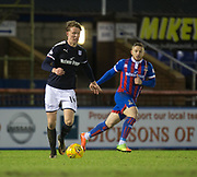 30th January 2018, Tulloch Caledonian Stadium, Inverness, Scotland; Scottish Cup 4th round replay, Inverness Caledonian Thistle versus Dundee; Dundee's Mark O'Hara and Inverness Caledonian Thistle's John Baird