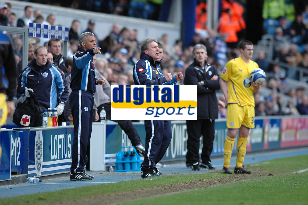 Photo: Tony Oudot/Richard Lane Photography. QPR v Sheffield Wednesday. Coca-Cola Football League One. 03/04/2010. <br /> QPR manager Neil Warnock is furious as his side let their lead slip fifteen minutes from time