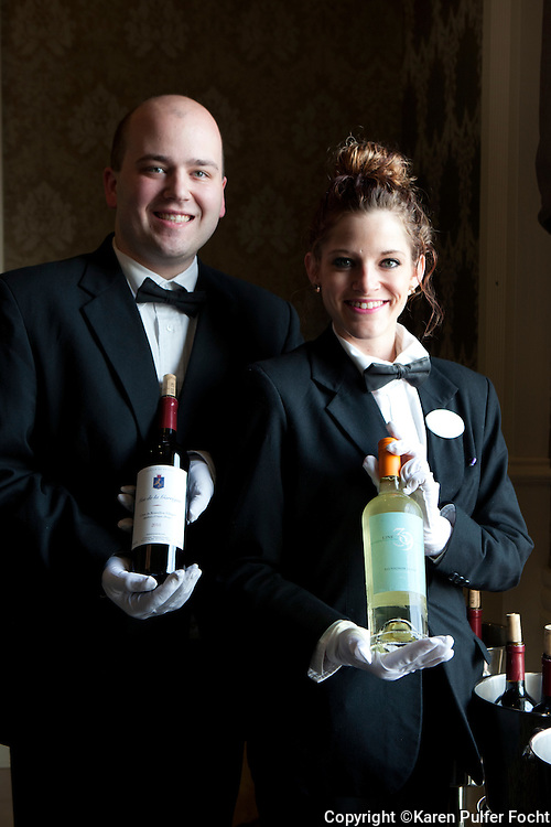 Matthew Doyle and Lauren Garner are part of the staff of 239 onboard. The ship has an almost entirely American staff. The two are servers in the formal dining room.