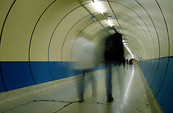 UK ENGLAND LONDON SEP98 - People walk through the Thameslink underpass. Over a million passengers use the London Underground system each day.   ..jre/Photo by Jiri Rezac..© Jiri Rezac 1998