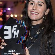 NLD/Amsterdam/20180905- Uitreiking 3FM Awards 2018, Naaz wint de award voor Beste Video