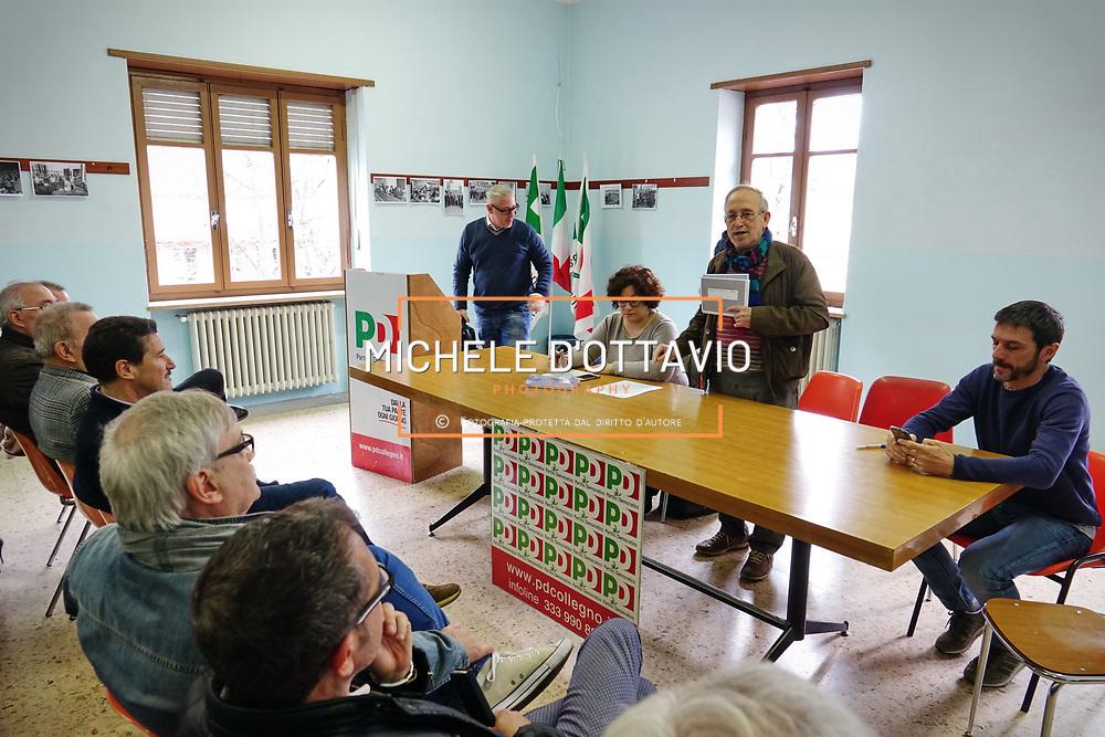 Al congresso del circolo PD di Collegno si votano le mozioni per i candidati alla segreteria nazionale. Torino 25 marzo 2017