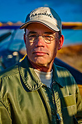 Aerobatic pilot and Pitts Model 12 expert Larry King.  Photographed at Briscoe Field on a very cold January day in 2009.