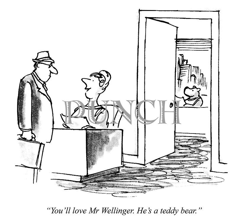 """You'll love Mr Wellinger. He's a teddy bear."""