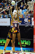 Firebirds Goal Shoot Romelda Aitken.<br /> ANZ Netball Championship, Queensland Firebirds v BOP Magic, Semi Final. Gold Coast Convention Centre, Gold Coast, Australia, Monday 9 May 2011. Photo: Andrew Cornaga/photosport.co.nz