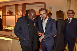 Edward Enninful and Liam Payne at the reopening of the Cartier Boutique, New Bond Street, London, England. 31 January 2019. <br /> <br /> ***For fees please contact us prior to publication***