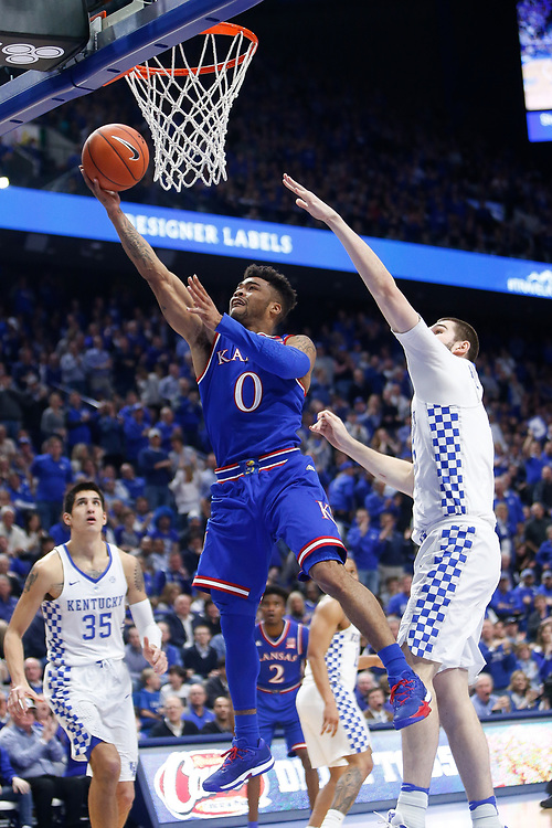Kansas Jayhawks guard Frank Mason III puts up a layup against the Kentucky Wildcats on Saturday January 28, 2017 at Rupp Arena in Lexington, Ky. Photo by Michael Reaves | Staff