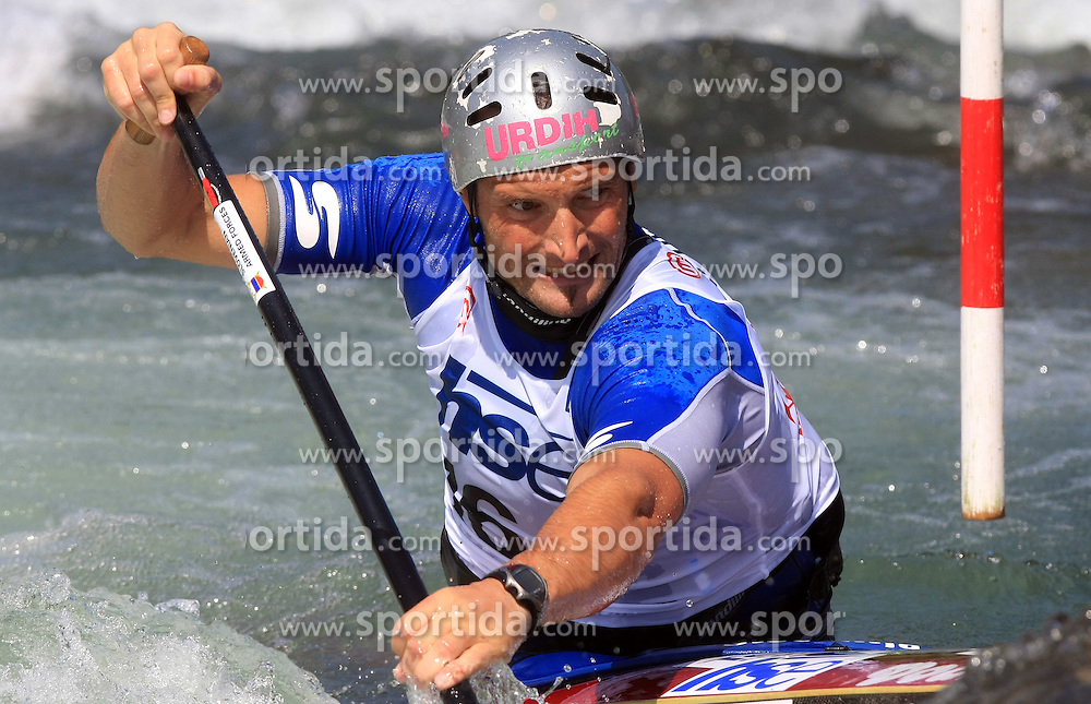 Dejan Stevanovic (SLO) of Men's C1 Canoe Single at Heats - 1st Run of ICF Kayak/Canoe Slalom Racing World Cup Tacen 2008, on June 28, 2008, Ljubljana, Slovenia. (Photo by Vid Ponikvar / Sportal Images)../ Sportida)