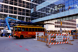 Stock photo of the construction zone in front of the George R. Brown Convention Center