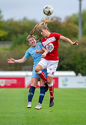 Gemma Evans of Bristol City competes with Lauren Hemp of Manchester City Women - Mandatory by-line: Paul Knight/JMP - 16/09/2018 - FOOTBALL - Stoke Gifford Stadium - Bristol, England - Bristol City Women v Manchester City Women - Continental Tyres Cup