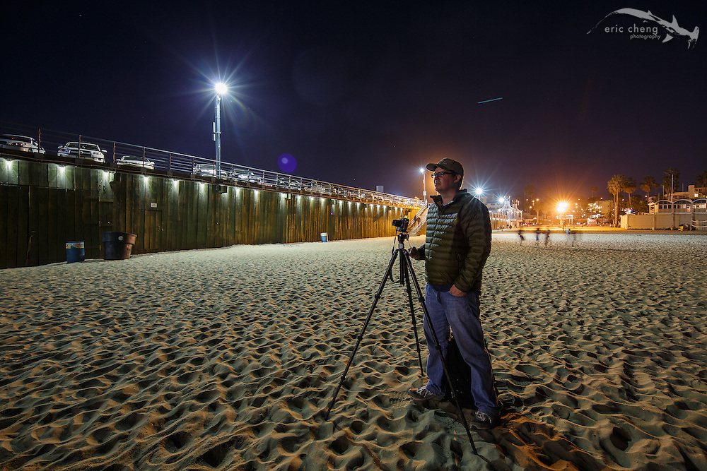 Topher Martini at the Santa Monica Pier. January 19, 2013.