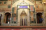 interior of a mosque akko israel