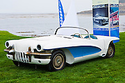General Motors displays a collection of Concept Cars from the Motorama of the mid 1950s on the 18th Green of the 2008 Pebble Beach Concours de Elegance. 1955 La Salle II Roadster.