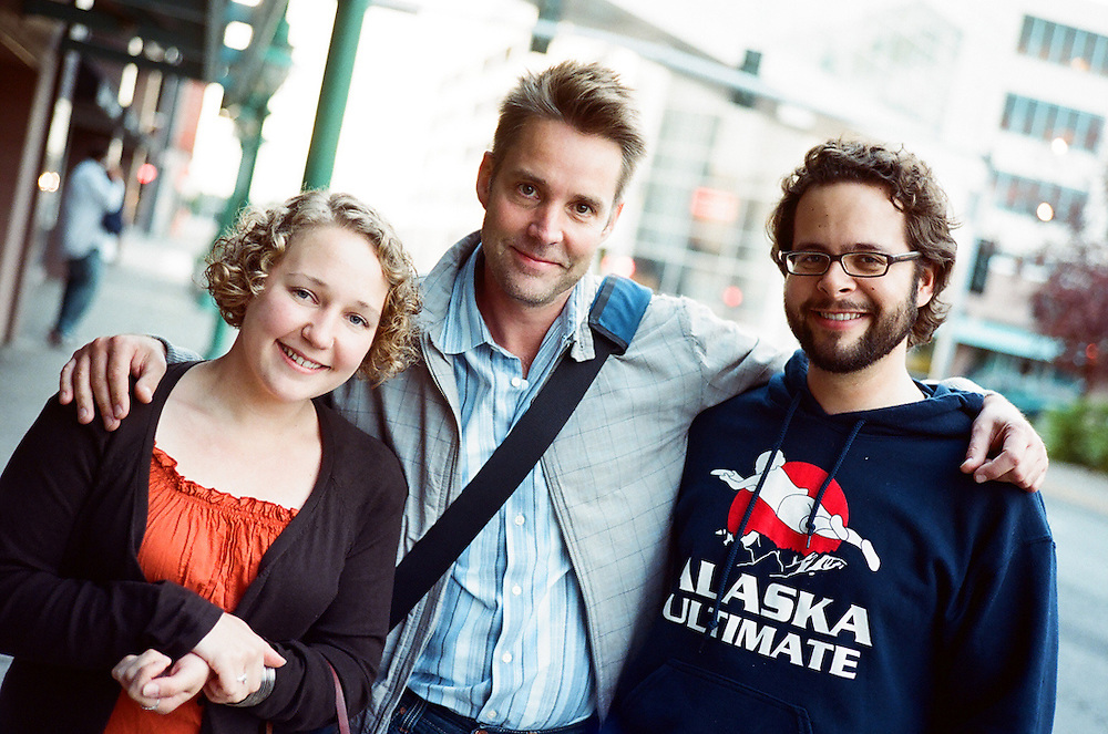 ANCHORAGE, AK - 2008: Photographers Beth Skabar, David Hilliard and Loren Holmes.