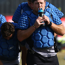 DURBAN, SOUTH AFRICA, 5,JULY, 2016 - Lourens Adriaanse during The Cell C Sharks training session at Growthpoint Kings Park in Durban, South Africa. (Photo by Steve Haag)<br /> <br /> images for social media must have consent from Steve Haag