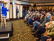 12 JANUARY 2020 - PERRY, IOWA: Sen. Klobuchar brought her presidential campaign to Perry, a farming community about 50 miles west of Des Moines. Iowa hosts the first event of the presidential selection process in February. The Iowa Caucuses are Feb. 3, 2020.        PHOTO BY JACK KURTZ