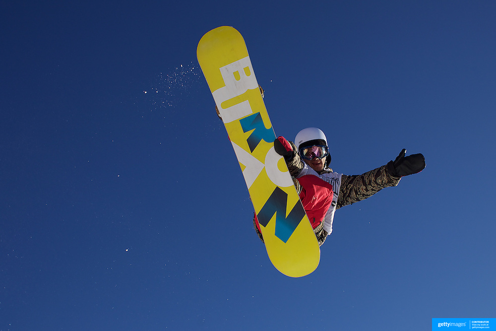Charles Reid, Canada, in action during the Men's Half Pipe Finals at the Burton New Zealand Open 2011 held at Cardrona Alpine Resort, Wanaka, New Zealand, 13th August 2011. Photo Tim Clayton