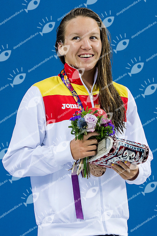 CASTRO ATALAYA Marina ESP<br /> 1500 Freestyle Women Final Swimming Bronze Medal<br /> 1st European Olympic Games <br /> Baku Azerbaijan 12-28/08/2015<br /> Photo Andrea Masini/Deepbluemedia/Insidefoto