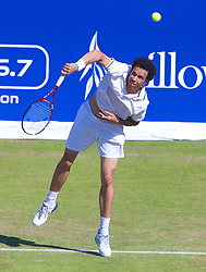 LIVERPOOL, ENGLAND - Friday, June 21, 2013: Younes El Ayanoui during Day Two of the Liverpool Hope University International Tennis Tournament at Calderstones Park. (Pic by David Rawcliffe/Propaganda)