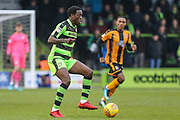 Forest Green Rovers Isaiah Osbourne(34) on the ball during the EFL Sky Bet League 2 match between Forest Green Rovers and Cambridge United at the New Lawn, Forest Green, United Kingdom on 20 January 2018. Photo by Shane Healey.