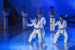 October 5, 2016 - Vatican City, Vatican - Taekwondo athletes attend the International conference ''Sport at the Service of Humanity'', the first global conference on faith and sport promoted by the Vatican Pontifical Council for Culture, in the Paul VI hall in Vatican City, Vatican on October 05, 2016. (Credit Image: © Giuseppe Ciccia/Pacific Press via ZUMA Wire)