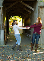 Emily senior portrait session Tannery Hill Bridge.  ©2105 Karen Bobotas Photographer