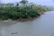 Machiguenga Indians in Canoe<br />