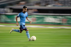 September 5, 2018 - Bronx, New York, United States - New York City midfielder MAXIMILIANO MORALEZ #10 dribbles the ball during a regular season match at Yankee Stadium in Bronx, NY.  New England Revolution defeats New York City FC 1 to 0 (Credit Image: © Mark Smith/ZUMA Wire)