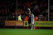 Zak Mills receives a yellow card in the second half during the EFL Sky Bet League 2 match between Crawley Town and Grimsby Town FC at the Checkatrade.com Stadium, Crawley, England on 26 November 2016. Photo by Jarrod Moore.