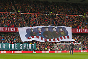 A flag for remembrance day during the EFL Sky Bet Championship match between Nottingham Forest and Derby County at the City Ground, Nottingham, England on 9 November 2019.