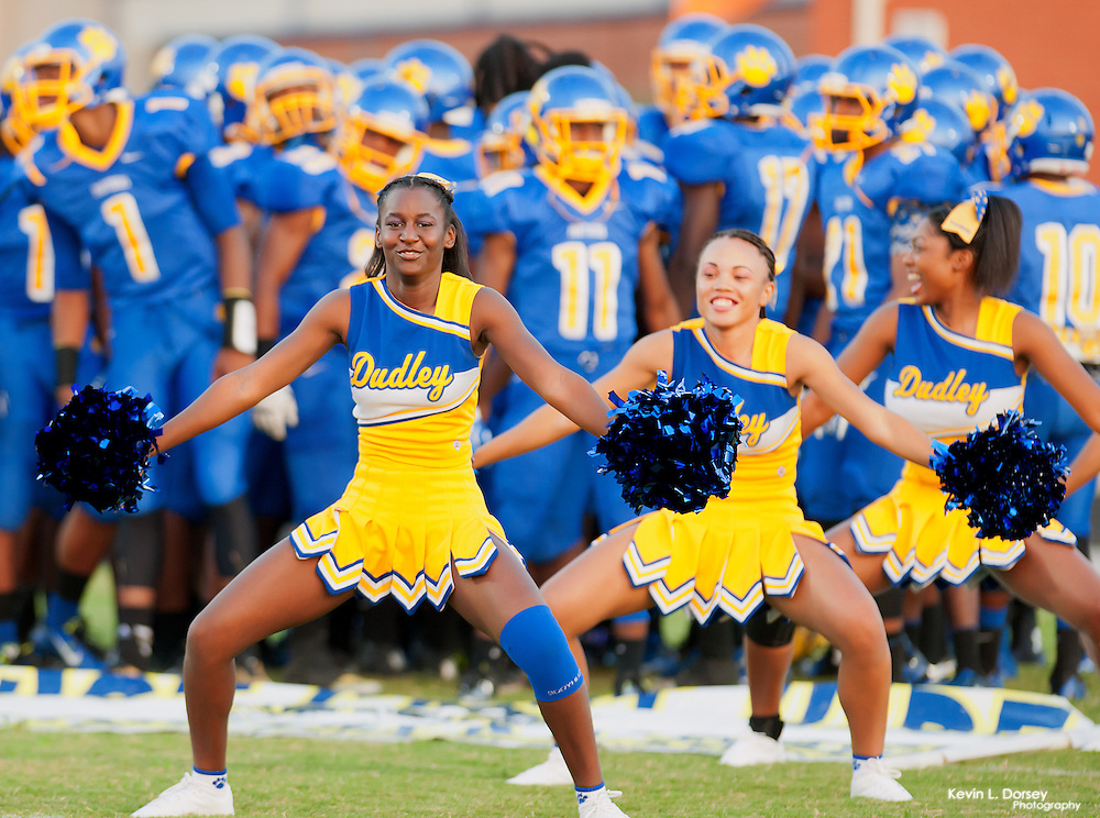 James B. Dudley Cheerleaders during Pregame