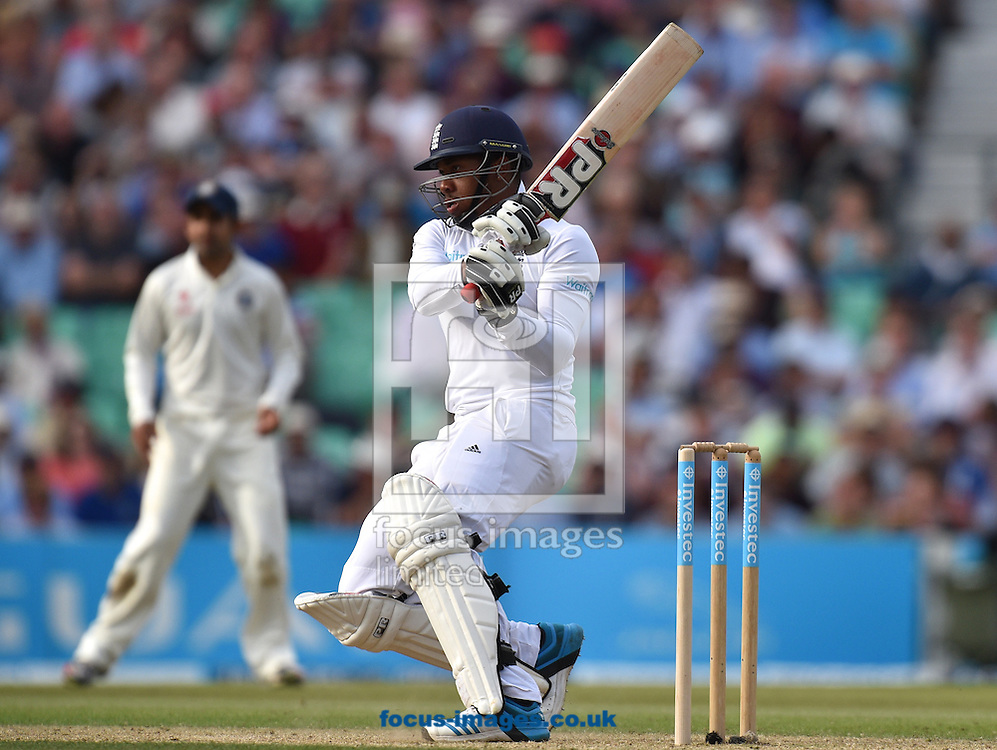 Chris Jordan of England batting during the Investec Test Match match at the Kia Oval, London<br /> Picture by Alan Stanford/Focus Images Ltd +44 7915 056117<br /> 16/08/2014