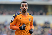 Wolverhampton Wanderers midfielder Nathan Byrne  during the Sky Bet Championship match between Wolverhampton Wanderers and Derby County at Molineux, Wolverhampton, England on 27 February 2016. Photo by Alan Franklin.