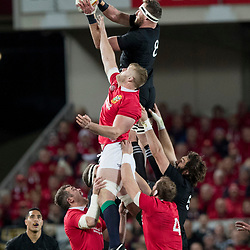 Kieran Read (c) during game 7 of the British and Irish Lions 2017 Tour of New Zealand, the first Test match between  The All Blacks and British and Irish Lions, Eden Park, Auckland, Saturday 24th June 2017
