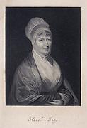 Elizabeth Fry, born Gurney (1780-1845) English Quaker (Society of Friends) prison reformer, with Anna Buxton, visiting women prisoners in Newgate prison, London, 15 February 1813.  Engraving c1860.