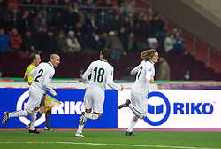 Nejc Pecnik of Slovenia scored  at  FIFA World Cup Sout Africa 2010 Qualifying Play off match between Russia and Slovenia, on November 14, 2009, in Stadium Luzhniki, Moscow, Russia. Russia won 2:1. (Photo by Vid Ponikvar / Sportida)