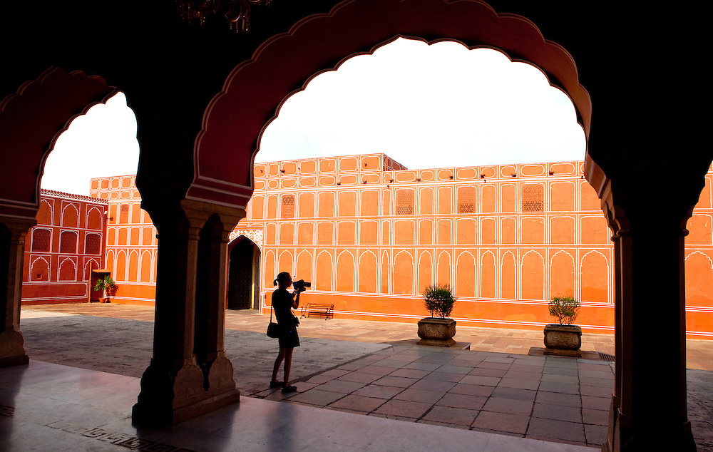 Erin at Amer Palace, Jaipur, India