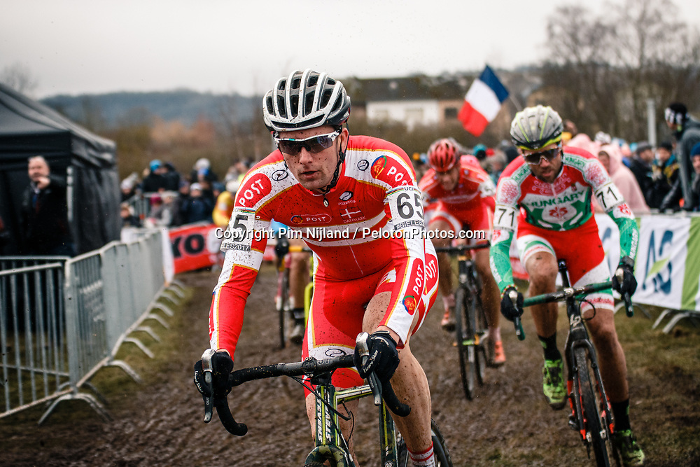 Tommy NIELSEN of DEN during the Men Elite race, UCI Cyclo-cross World Championship at Bieles, Luxembourg, 29 January 2017. Photo by Pim Nijland / PelotonPhotos.com | All photos usage must carry mandatory copyright credit (Peloton Photos | Pim Nijland)