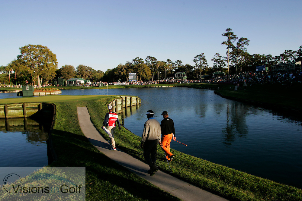 Sergio Garcia and Vijay Singh walking to the 17th green<br /> THE PLAYERS Championship at TPC Sawgrass GC, Stadium, Ponte Vedra, Jacksonville, Florida USA. 25th March 2006. Day 3.<br /> Picture Credit:   Mark Newcombe / visionsingolf.com