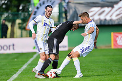 Nino Kouter of NS Mura vs Blaz Vrhovec of NK Maribor during football match between NS Mura and NK Maribor in 10th Round of Prva liga Telekom Slovenije 2018/19, on September 30, 2018 in Mestni stadion Fazanerija, Murska Sobota, Slovenia. Photo by Mario Horvat / Sportida