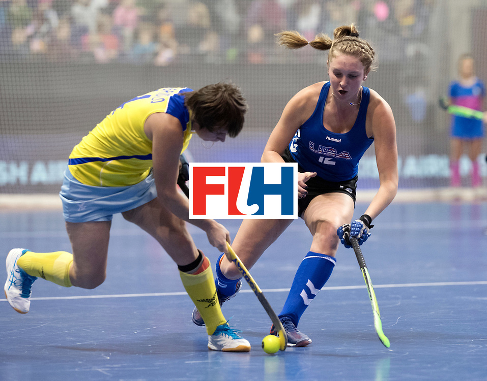 BERLIN - Indoor Hockey World Cup<br /> Women: United States - Kazakhstan<br /> foto: WIRTH Paityn.<br /> WORLDSPORTPICS COPYRIGHT FRANK UIJLENBROEK