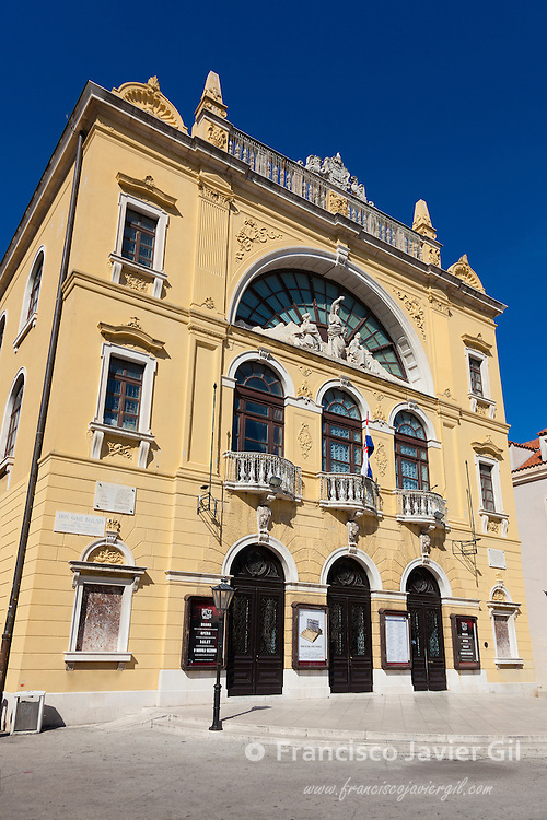 Croatian National Theatre building, Split, Dalmatia, Croatia