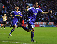 Fotball<br /> England<br /> Foto: Fotosports/Digitalsport<br /> NORWAY ONLY<br /> <br /> Leicester City FC vs Huddersfield Town FC League 1 24/01/09<br /> <br /> Jack Hobbs celebrates scoring Leicester's 4th goal.