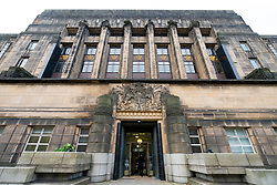 Exterior of entrance to St Andrews House the home of the Scottish Government in Edinburgh, Scotland, UK