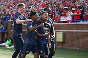 Manchester United Andreas Pereira celebrates his goal 1-1 during the Manchester United and Liverpool International Champions Cup match at the Michigan Stadium, Ann Arbor, United States on 28 July 2018.