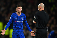 Football - 2019 / 2020 Premier League - Tottenham Hotspur vs. Chelsea<br /> <br /> Referee Anthony Taylor with Chelsea's Mason Mount, at The Tottenham Hotspur Stadium.<br /> <br /> COLORSPORT/ASHLEY WESTERN