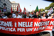 Rome October 11 2008- Protest against italian government. Agnoletto