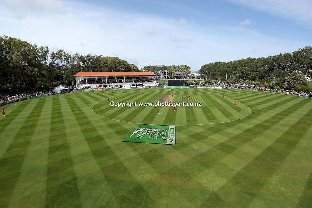 General view of the University Oval, Dunedin.<br /> New Zealand v Zimbabwe, 1st ODI, 3 February 2012, University Oval, Dunedin, New Zealand.<br /> Photo: Rob Jefferies/PHOTOSPORT